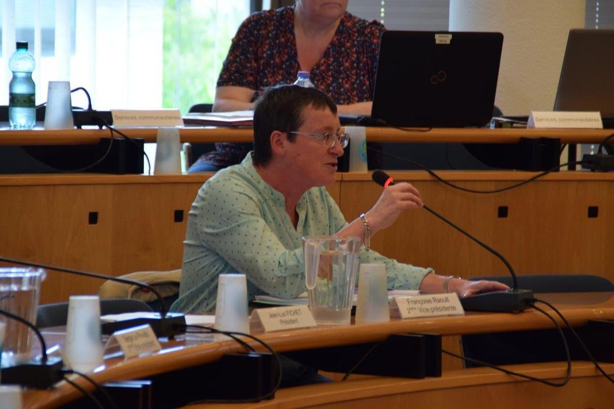 Françoise Raoult, vice-présidente à la culture, présidait la séance en l'absence de Jean-Luc Fichet en début de Conseil Communautaire, en attendant qu'il revienne