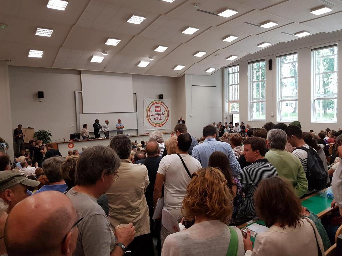 ouverture de l'Université d'été photo de nos camarades des Côtes d'Armor