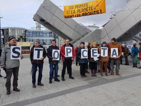 Manif à BREST, stop TAFTA-CETA
