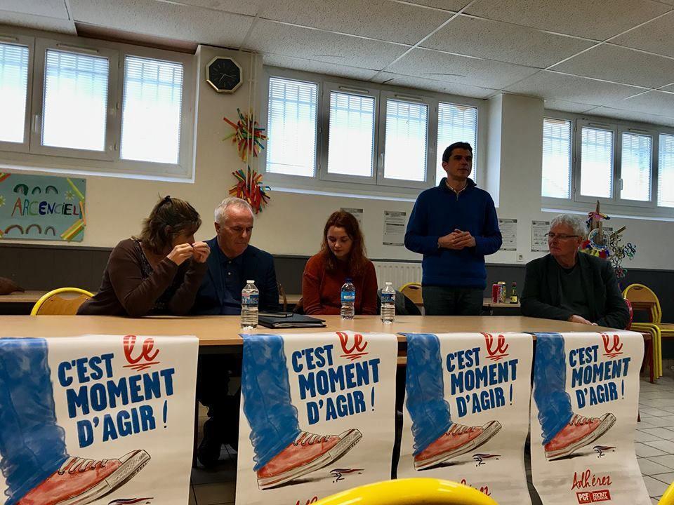 Raymond Mc Cartney en réunion publique à Brest le 12 mai 2017
