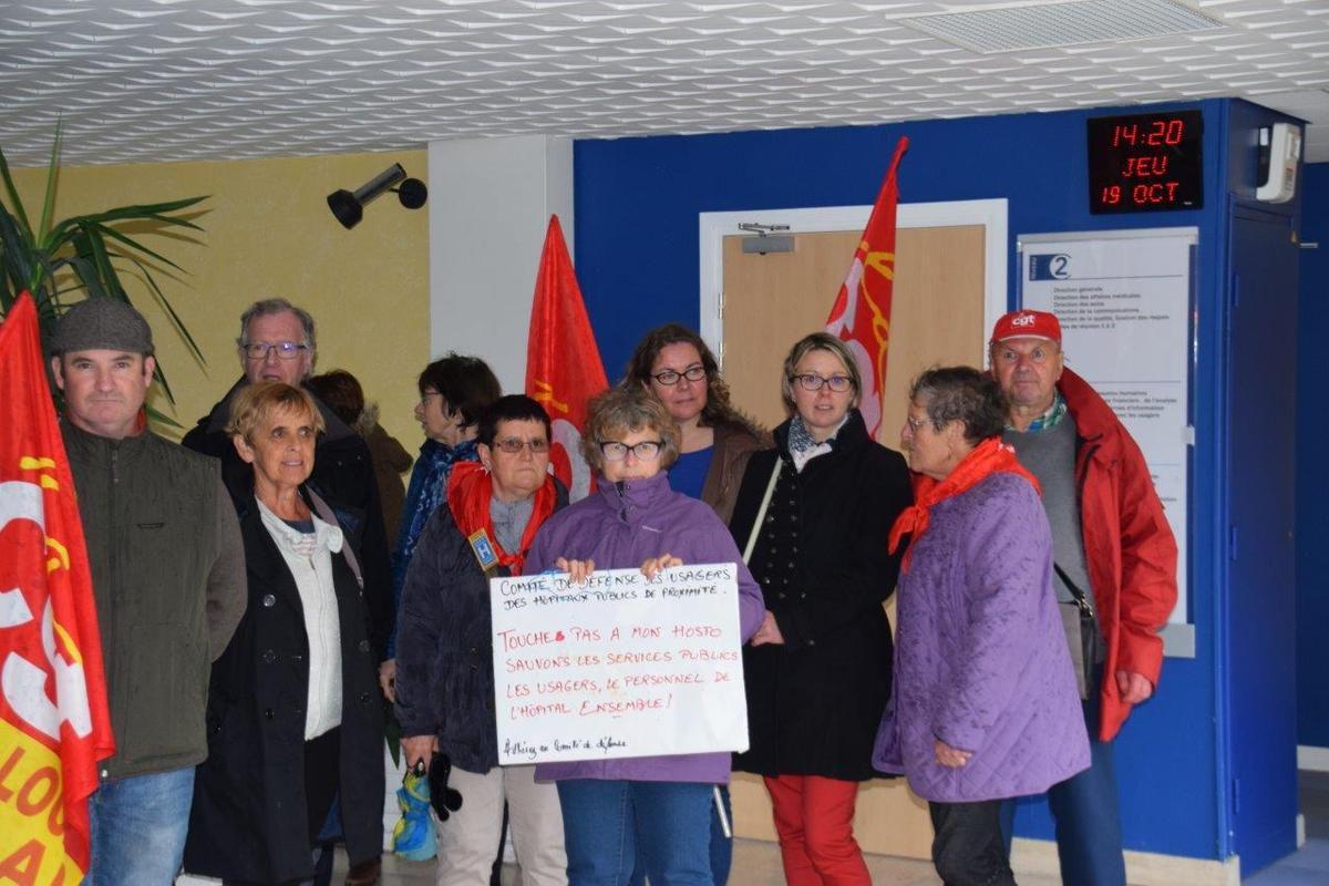 Rassemblement pour l'hôpital de Morlaix, les conditions de travail des personnels et d'accueil des patients le 19 octobre (photos Pierre-Yvon Boisnard)