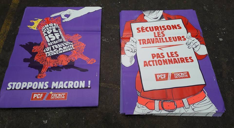 Assez de mépris de classe, assez de politique pour les ultra-riches: stoppons Macron! Le PCF lance une nouvelle campagne d'affichage