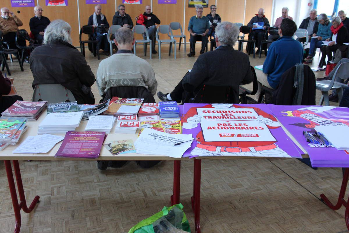 Photos de l'AG des communistes finistériens le samedi 21 octobre 2017 à Morlaix (salle de Ploujean) - photos de Jean-Luc Le Calvez