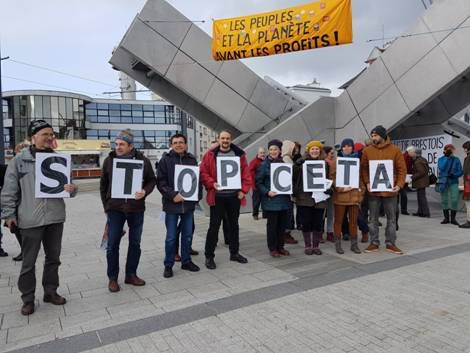 Mobilisation contre Ceta à Brest au printemps 2016