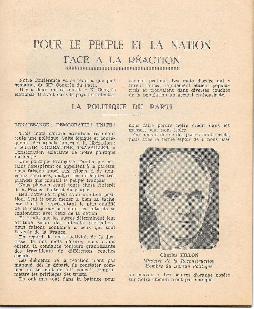 Un document exceptionnel sur le Parti Communiste dans le Finistère au début de la IVe République: le livret de la 10ème conférence fédérale du Parti Communiste à Brest en mai 1947 (archives Jean-Claude Cariou)