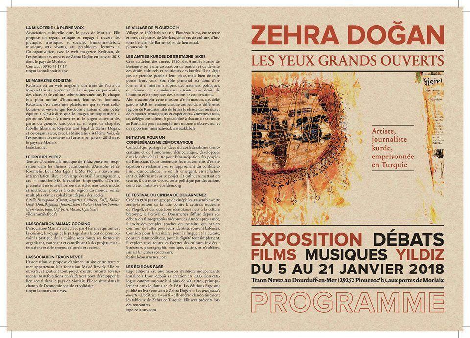 Zehra Dogan. Les yeux grands ouverts (Le Télégramme, Morlaix, Sophie Guillerm, 5 janvier 2017)