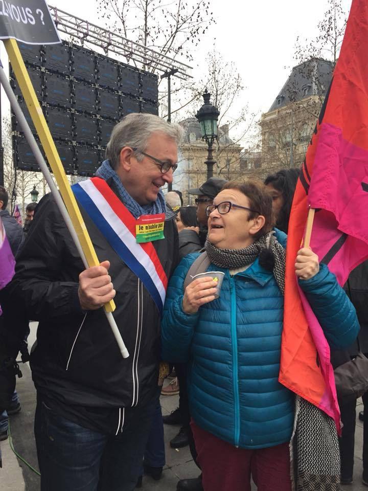 Manifestation ce 6 janvier 2018 à Paris pour réclamer la vérité et la justice après l'assassinat de trois militantes kurdes dans le 10e arrondissement il y a 5 ans: Sakine Canziz, Leyla Saylemez et Fidan Dogan.
