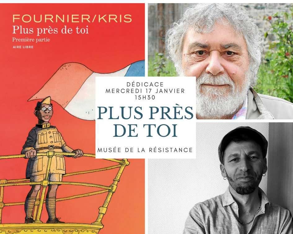 Mercredi 17 janvier - Dédicace de Kris et Fournier au musée de la Résistance de Saint Connan dans les Côtes-d'Armor pour leur très belle BD sur les tirailleurs sénégalais