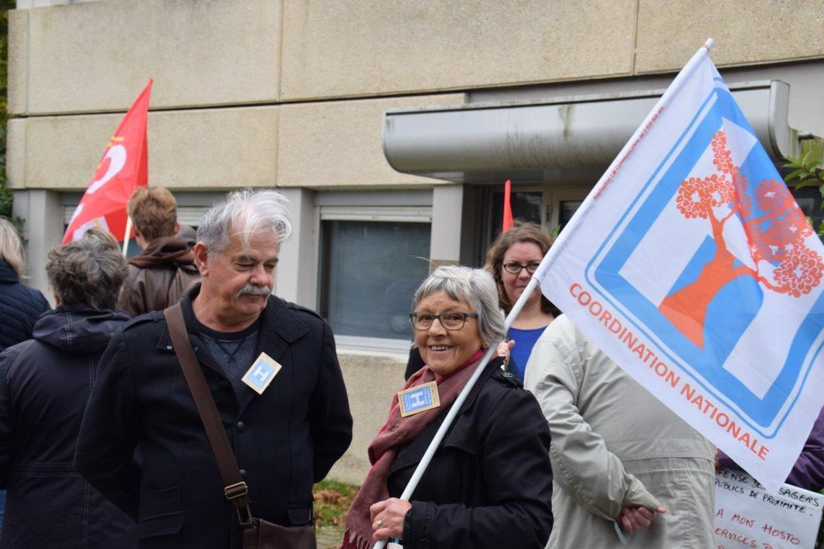 Rassemblement pour l'hôpital de Morlaix du Comité de défense de l'hôpital public le 19 octobre dernier