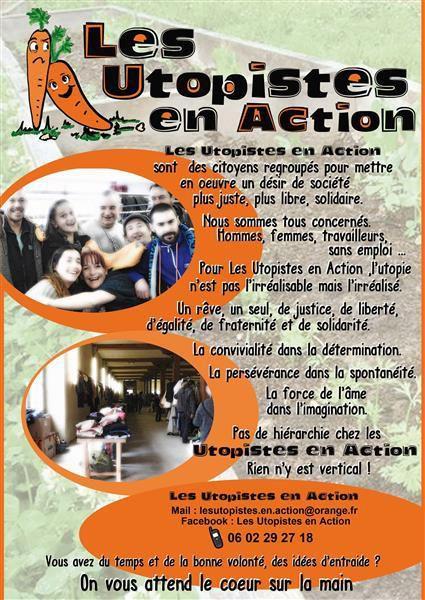Appel à participation solidaire des Utopistes en Action pour l'accueil des Réfugiés et Migrants