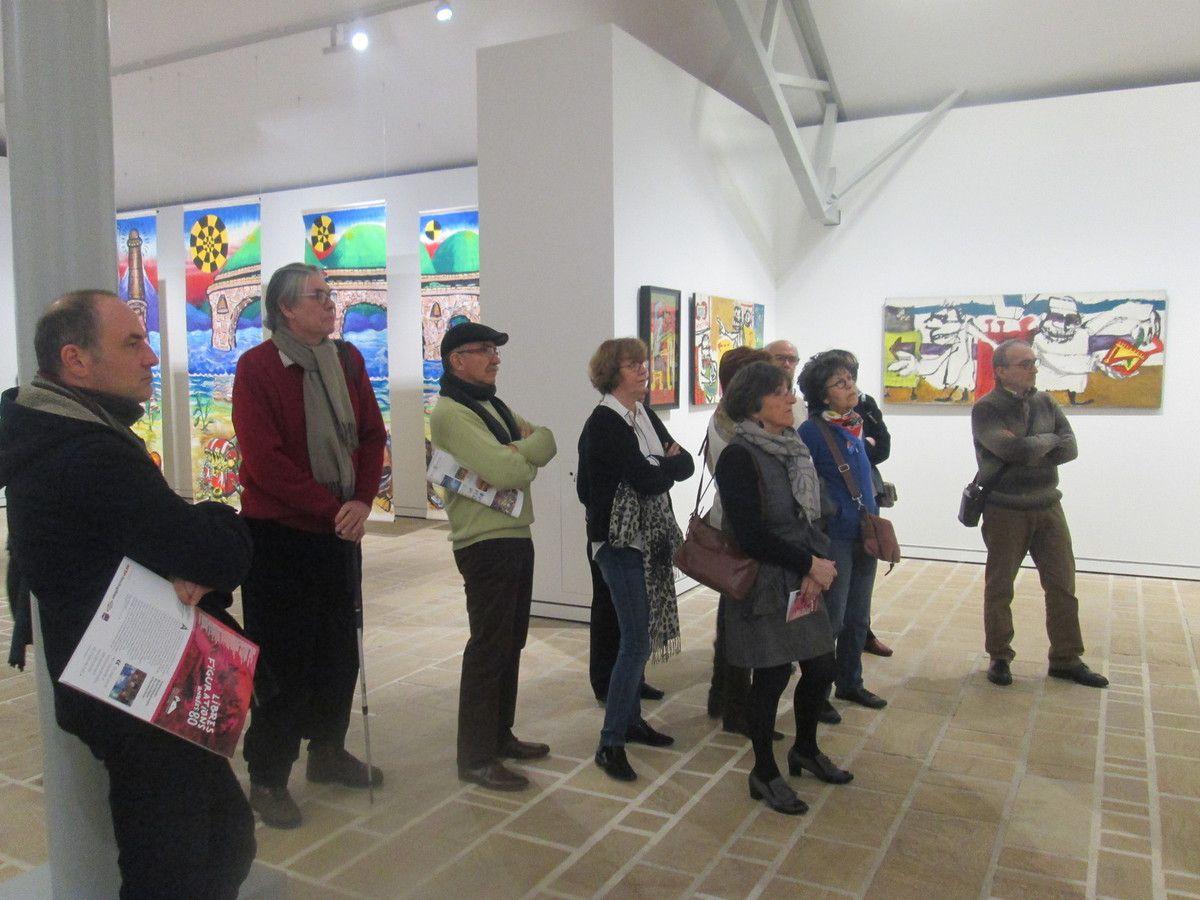 Landerneau: Avec l'historien et critique d'art Renaud Faroux et l'espace des Capucins, les militants communistes se familiarisent avec plaisir avec les artistes de la Figuration Libre, cette peinture underground contestatrice des années 80