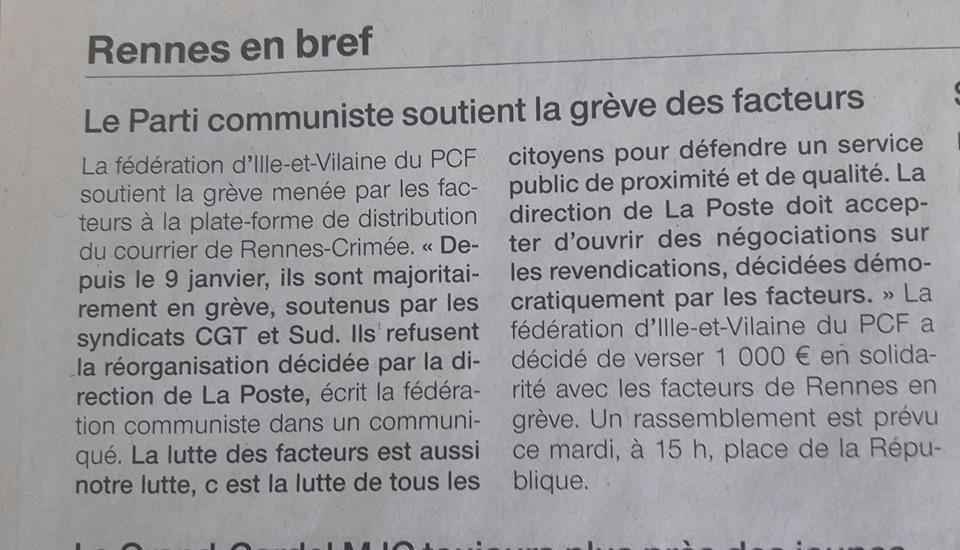 Ouest-France, 27 février 2018