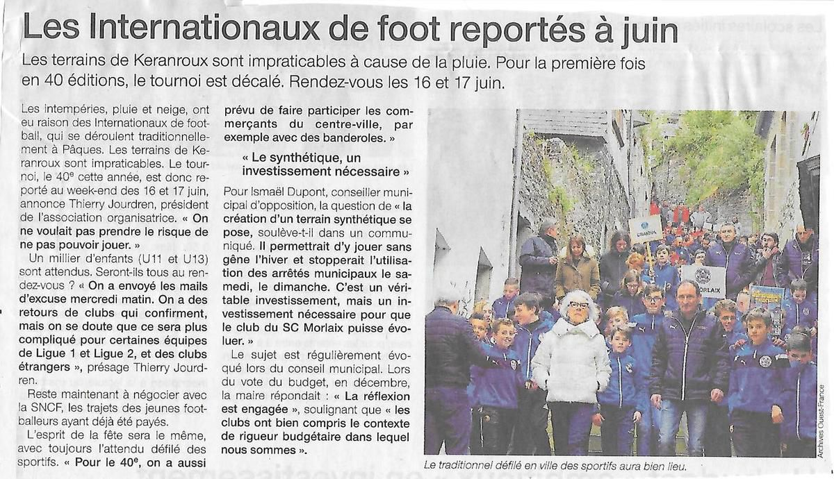 Ouest-France, 22 mars 2018