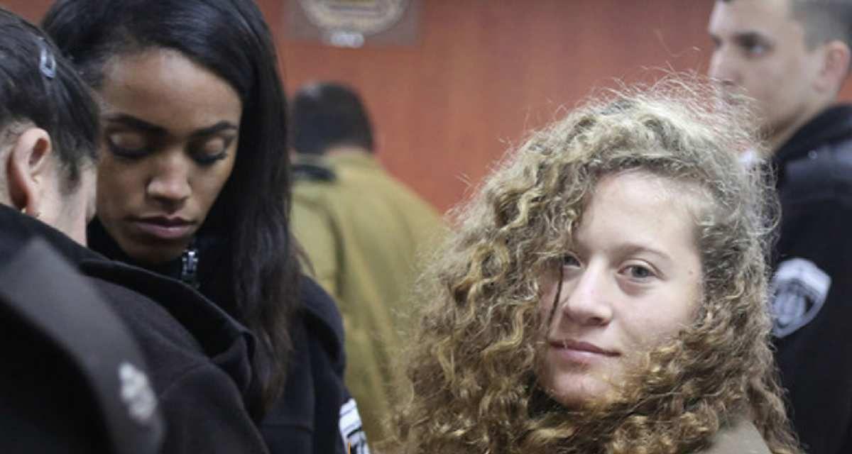 Ahed Tamimi : 8 mois de prison pour une gifle à un soldat israélien ! (AFPS, 22 mars 2018)