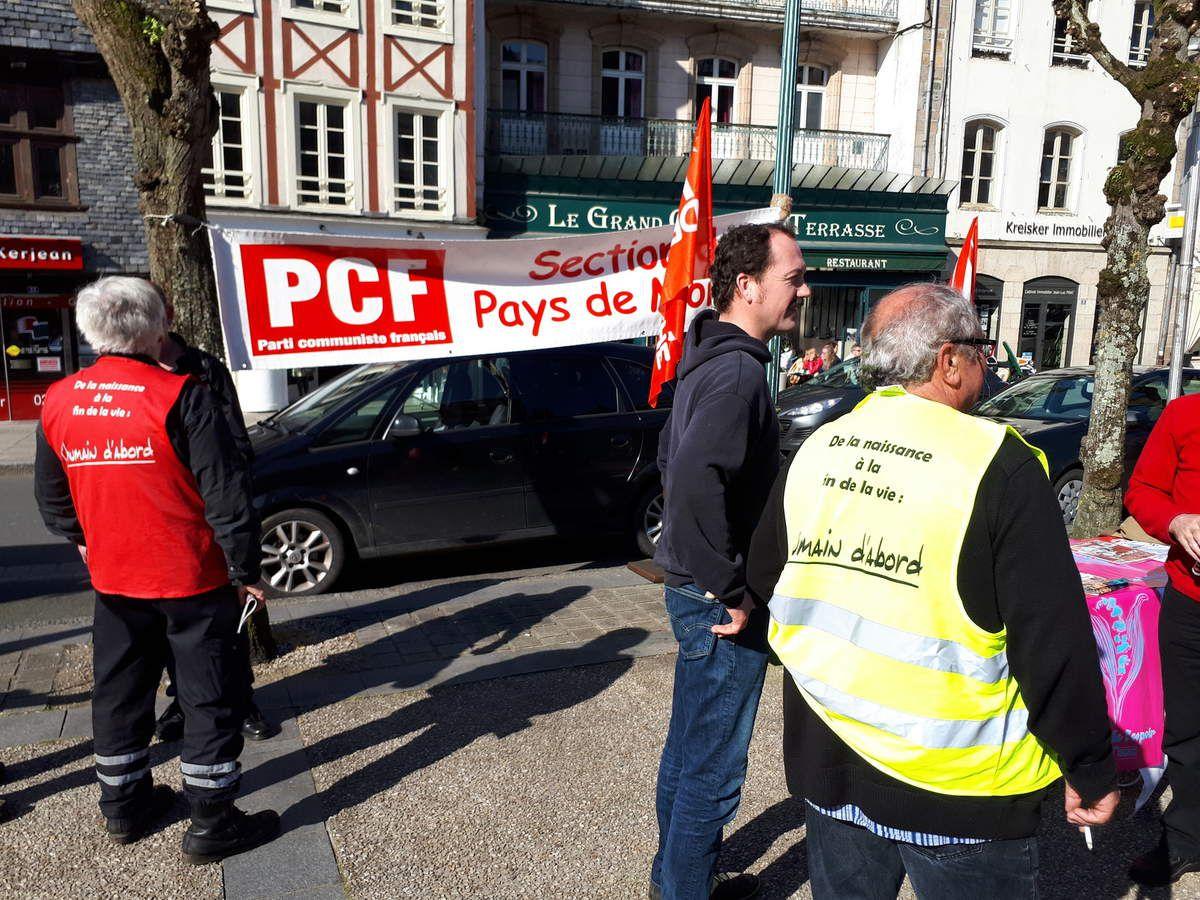 Photos de la manifestation du 19 avril 2018 à Morlaix (Jean-Luc Le Calvez et Pierre-Yvon Boisnard)