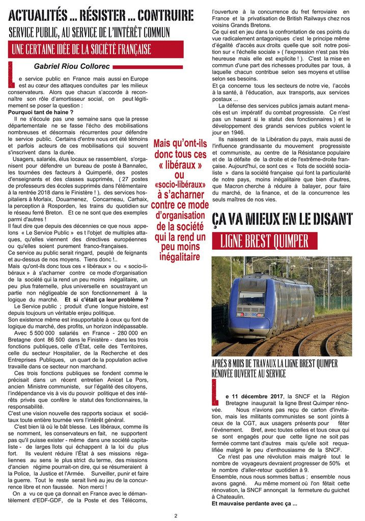 Les militants communistes sur le marché de Morlaix ce 21 avril pour la distribution de Rouge Finistère, le journal départemental du PCF