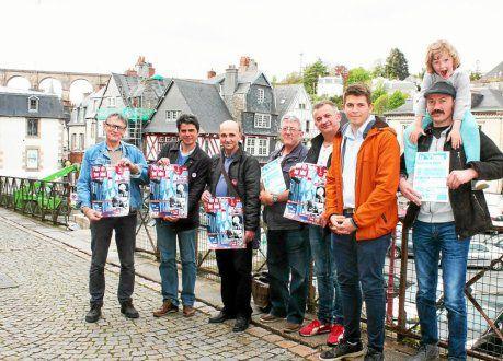 Jean-Luc Le Calvez, Ismaël Dupont, Serge Puil, Daniel Ravasio, Jean-Pierre Beuzit, Glenn Le Saout, Jérémy Lainé (de gauche à droite) ont présenté le programme de cette 54e fête du viaduc.