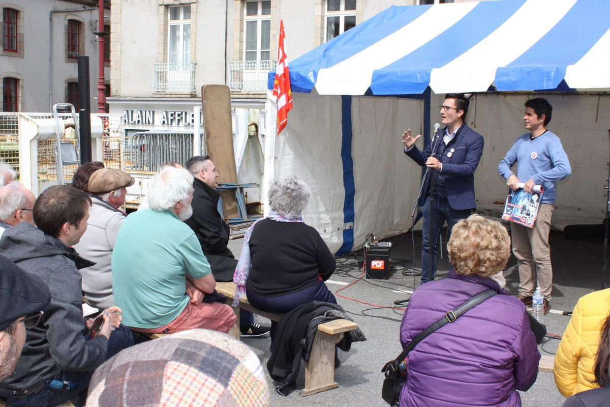 PCF MORLAIX - FETE DU VIADUC (1er Mai) : Olivier DARTIGOLLES présent sur la fête