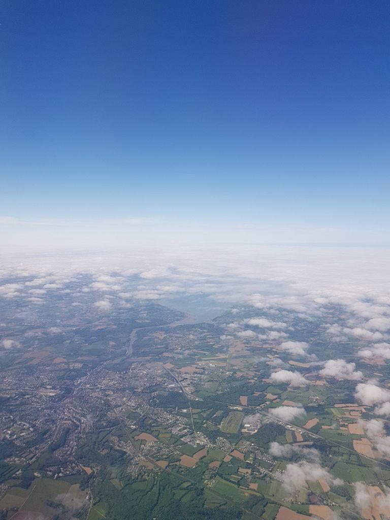 Grand Morlaix: prendre de la hauteur!  Morlaix vu du ciel.  Photos de notre amie et camarade élue Front de Gauche à Morlaix et syndicaliste Brit'Air Valérie Scattolin.