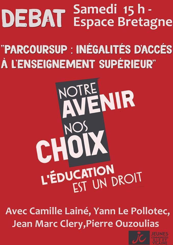 Parole de lycéenne morlaisienne: Pacoursup, un système de sélection inadmissible (7 septembre 2018)