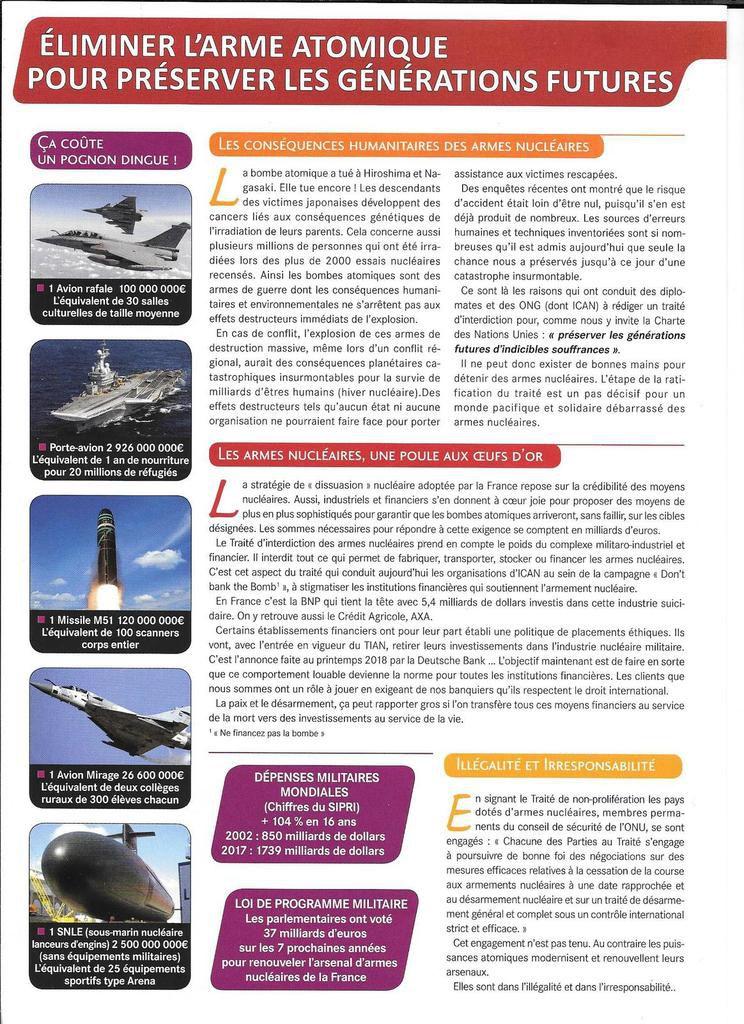 Pour le désarmement nucléaire, pour que la France signe le Traité d'interdiction, tous à Crozon, port du Fret, le dimanche 14 octobre (Mouvement de la Paix)