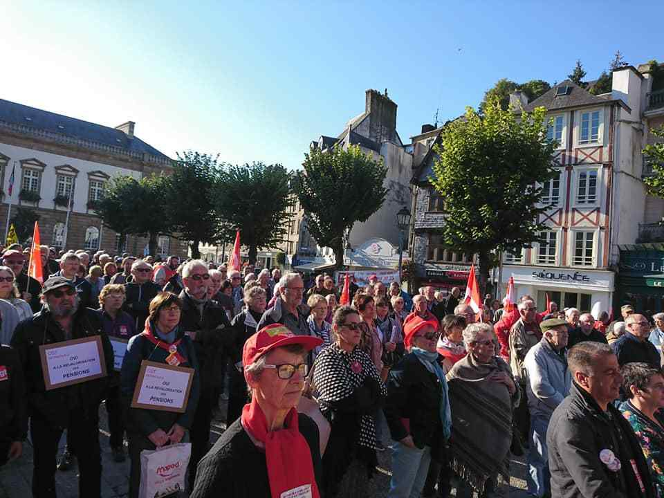 photo d'un militant CGT hôpital de Morlaix