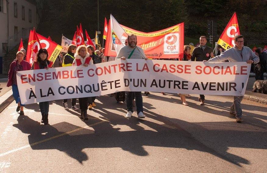 Mobilisation du 9 octobre à Quimper - photo Roberte Saint Jalme