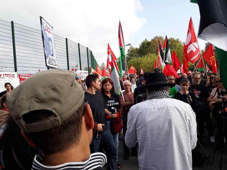 Manifestation pour la libération de George Ibrahim Abdallah - avec Marie-Pierre Vieu