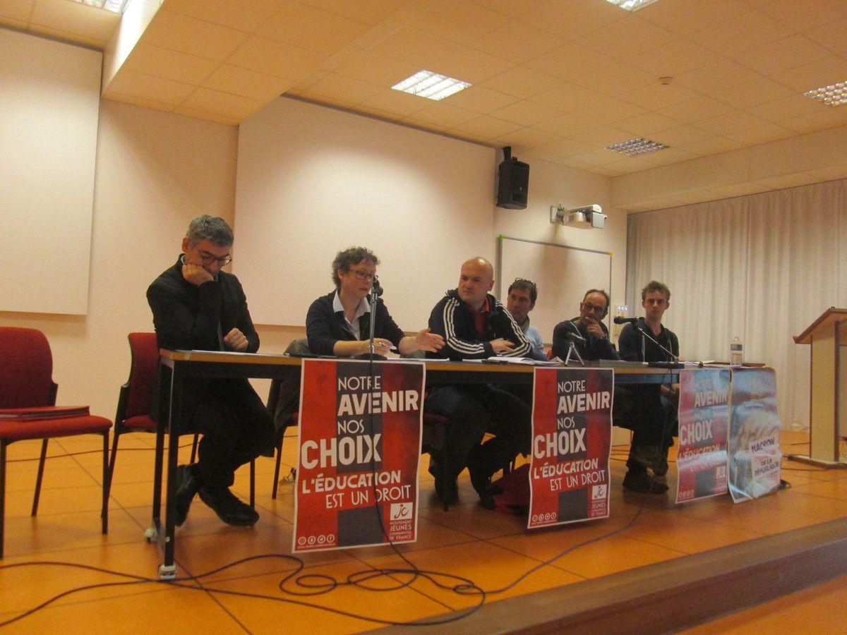 Construire un projet démocratique de droit à l'éducation pour tous à l'opposé de la logique politique de Parcoursup - excellent débat organisé par le PCF à Brest ce mardi 22 octobre