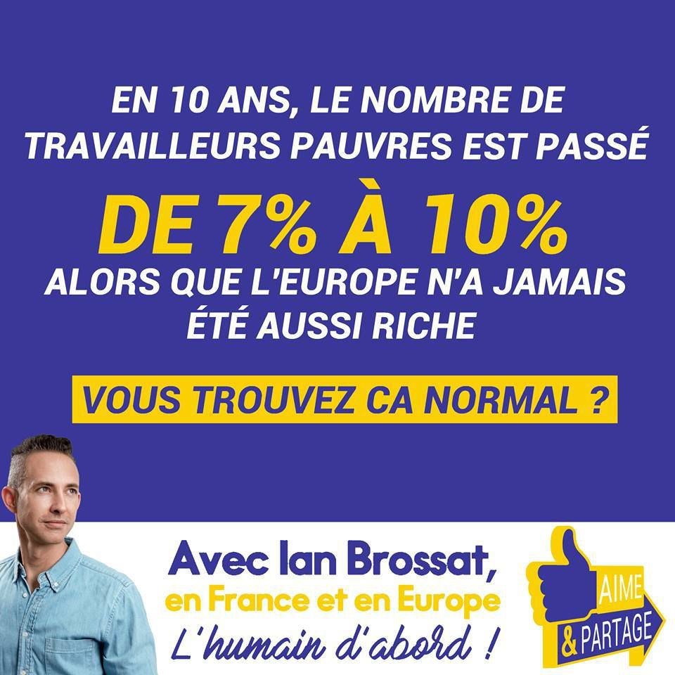 De 7% à 10% de travailleurs pauvres en Europe: voilà le résultat du libéralisme économique et de l'austérité en Europe (Ian Brossat)