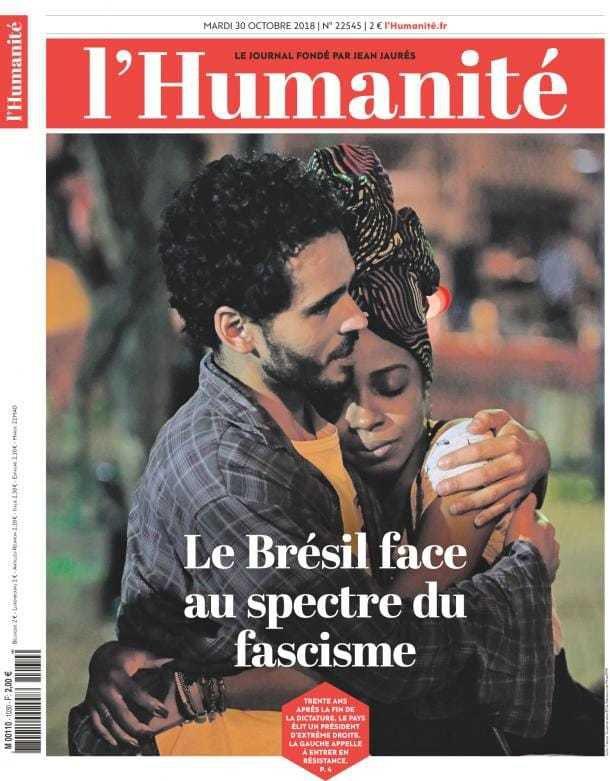 Apocalypse Brésil - Patrick Le Hyaric, éditorial de l'Humanité, mardi 30 octobre