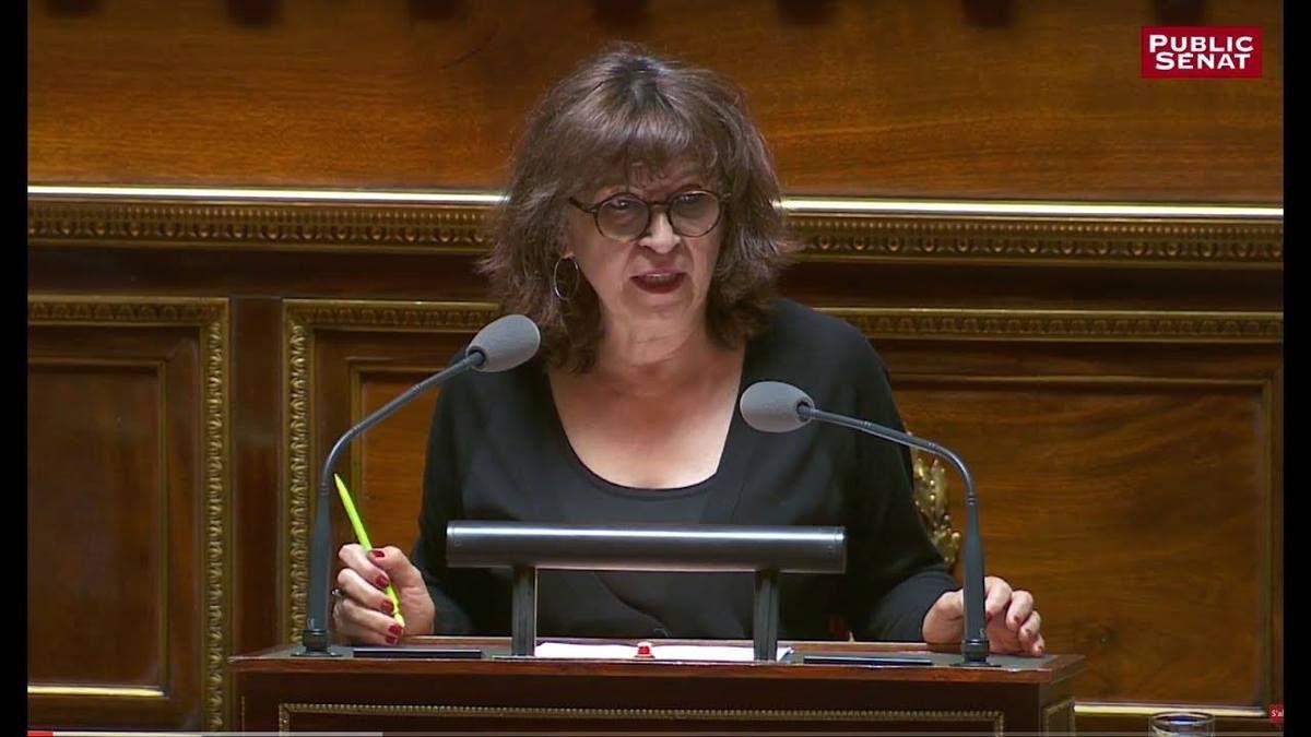 La communiste Eliane Assassi, présidente du groupe CRC