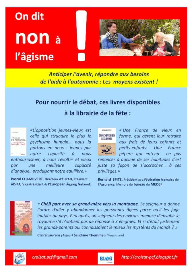 Vidéo du débat sur l'âgisme et la prise en compte des personnes âgées dans la société avec Joëlle Le Gall, Dominique Watrin, Christiane Caro - Atelier citoyen santé du PCF Bretagne, fête de l'Humanité Bretagne 2018