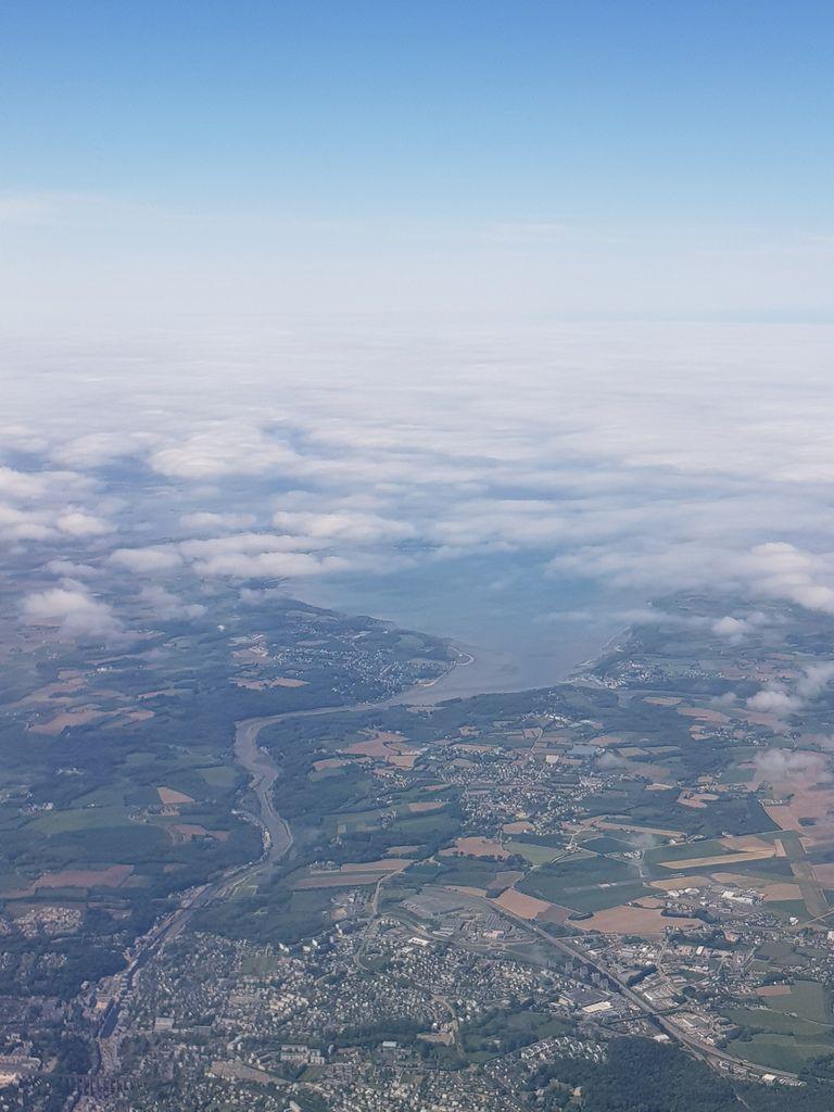 Morlaix vue du ciel (photo Valérie Scattolin)