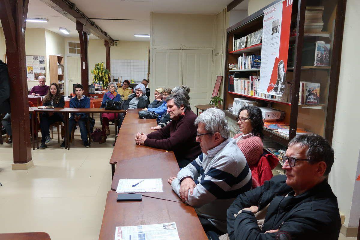 Une conférence passionnante de l'historien Pierre Outteryck sur Martha Desrumaux, grande dirigeante cégétiste et communiste, actrice de premier ordre de la solidarité avec l'Espagne républicaine, ouvrière, féministe, résistante, déportée - Mardi de l'éducation populaire, Morlaix, 5 février 2019