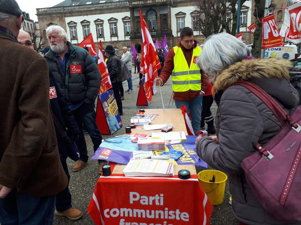 5 février 2018, manifestation à Morlaix - photo Jean-Luc Le Calvez