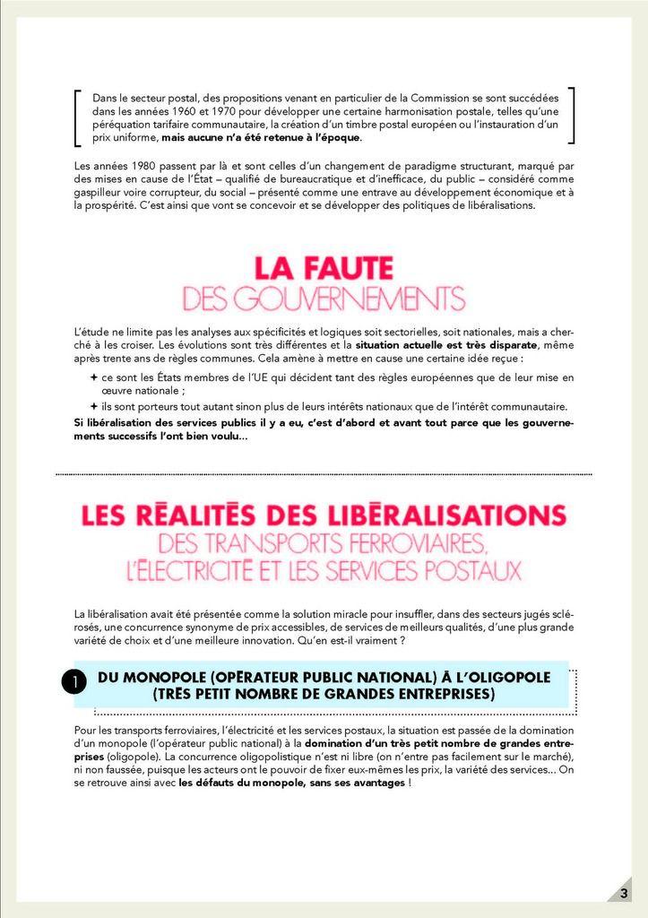 COMMENT LES DIRECTIVES DE LIBERALISATION ASSASSINENT NOS SERVICES PUBLICS (Groupe GUE/NGL au parlement européen, groupe dont le PCF est membre)