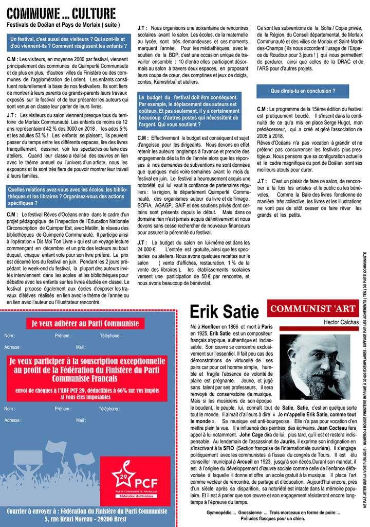 Distribution du Rouge Finistère n°4, journal de la fédération du Finistère du PCF, dans le pays de Morlaix