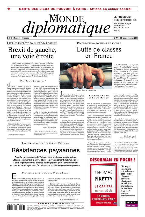 Recomposition politique et sociale - Lutte de classes en France - par Serge Halimi et Pierre Rimbert, Le Monde Diplomatique, février 2019