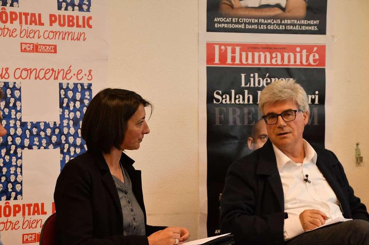 Cindérella Bernard (ici avec Patrick Le Hyaric pour un café citoyen Europe à Carhaix le 28 avril dernier) au Relecq-Kerhuon le 9 mars et à Morlaix pour la fête du Viaduc le 1er mai