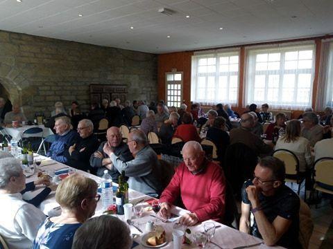 Repas republicain du PCF Bigouden au Guilvinec, Château de Kergoz, le 23 février 2019 en hommage aux Penn Sardin de Douarnenez et du Pays Bigouden: le coeur de la Bretagne maritime rouge (reportage-photo)