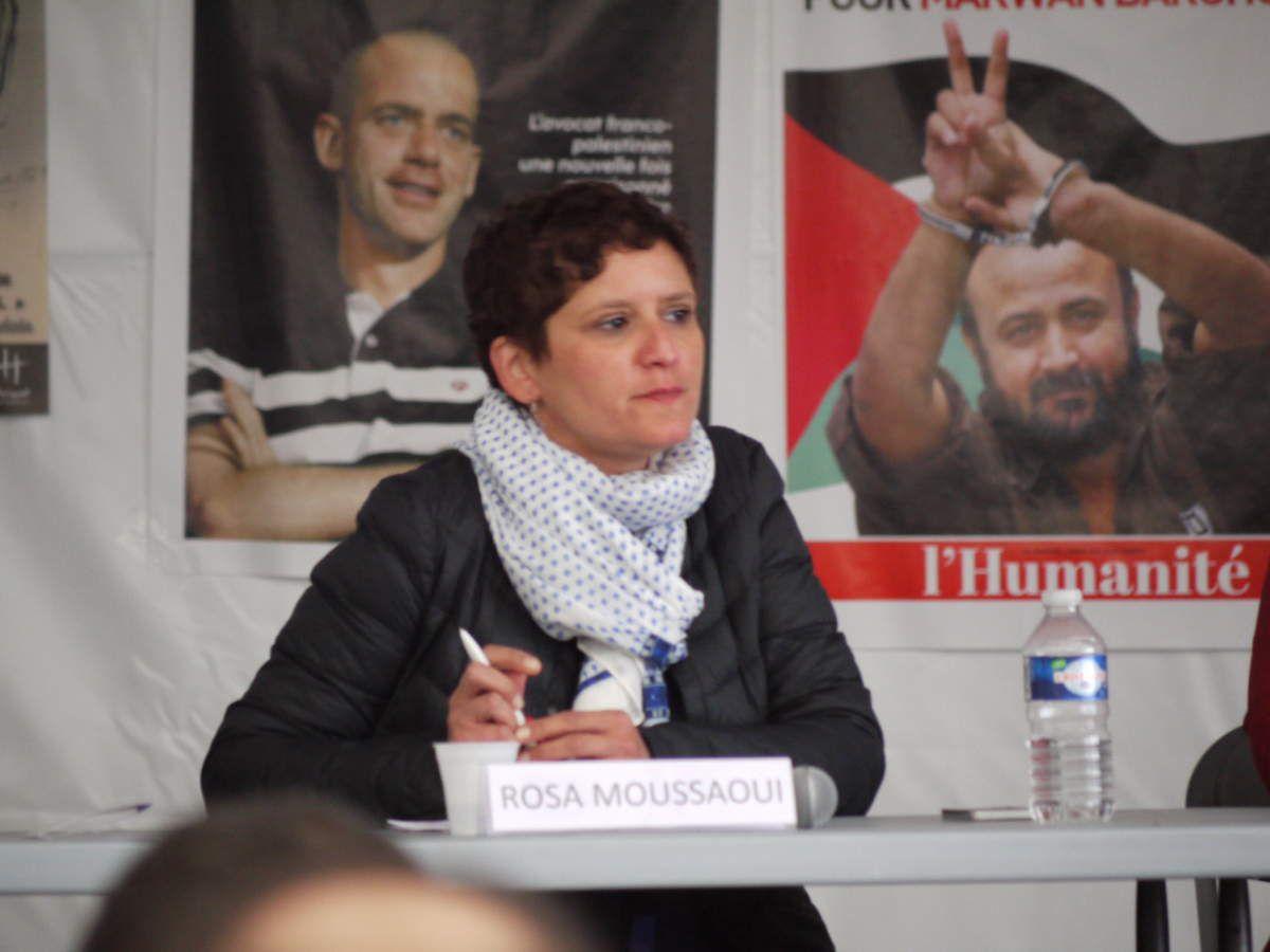 Rosa Moussaoui, journaliste militante de l'Humanité, spécialiste Maghreb-Afrique (fête de l'Humanité 2017)