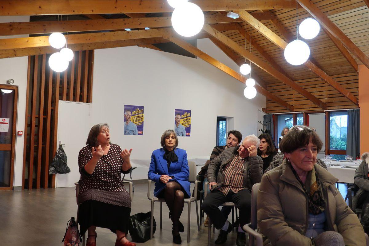 Débat avec Cindérella Bernard, Fabienne Bodin (CGT), Pierre-Yves Liziar et Ismaël Dupont - L'égalité femmes-hommes et  les violations des droits des femmes en question au Relecq Kerhuon ce 9 mars à l'invitation de la section PCF