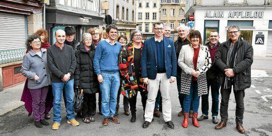 Union de la gauche pour les municipales à Morlaix, collectif Morlaix en commun. (Le Télégramme/Sophie Guillerm)