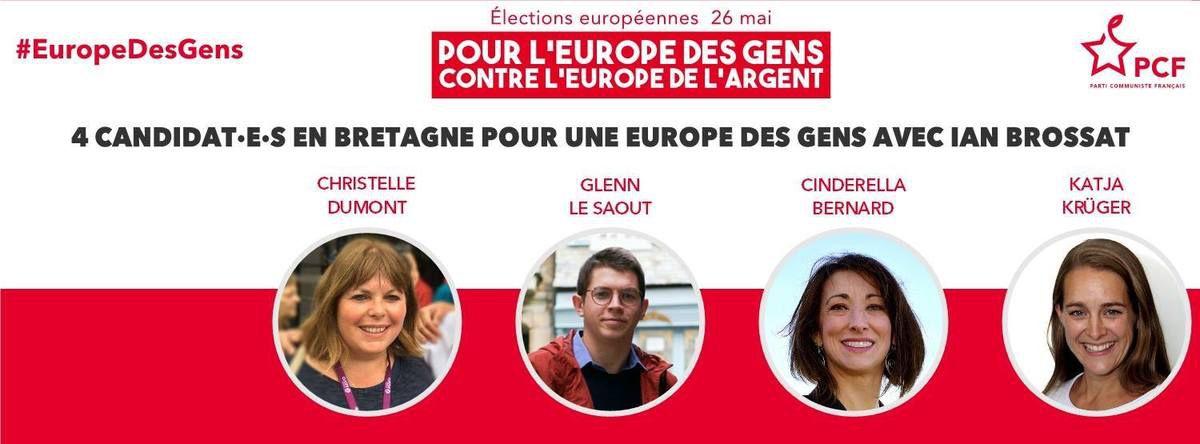 55e fête du Viaduc du PCF, place Allende à Morlaix, le 1er mai 2019, 12h15-18h: demandez le programme spécial Européennes avec Glenn Le Saoût et Cindérella Bernard!