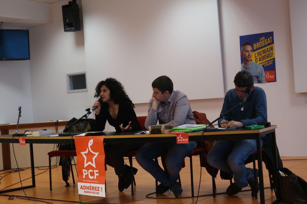 Maryam Madjidi et Glenn Le Saout défendent une véritable politique d'accueil des réfugiés et exilés en France et en Europe avec la liste de Ian Brossat - retour sur la réunion publique du samedi 6 avril à Brest, à la fac Ségalen