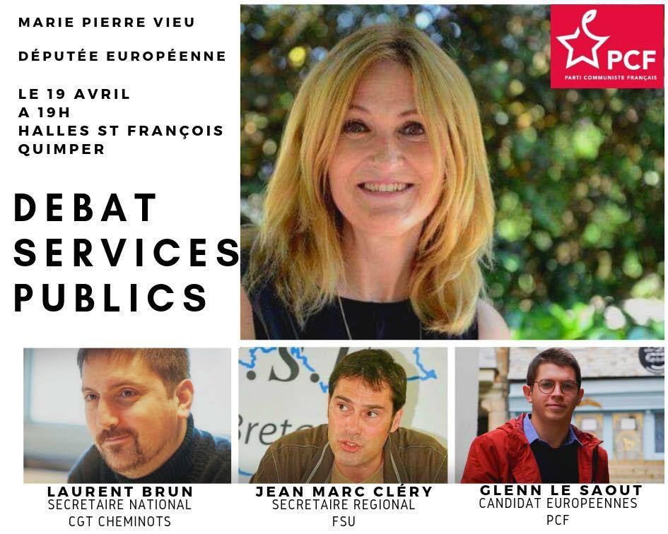 La campagne européenne du PCF dans le Finistère: en dynamique avec Ian Brossat et Glenn Le Saoût pour une Europe des gens, contre l'Europe de l'argent
