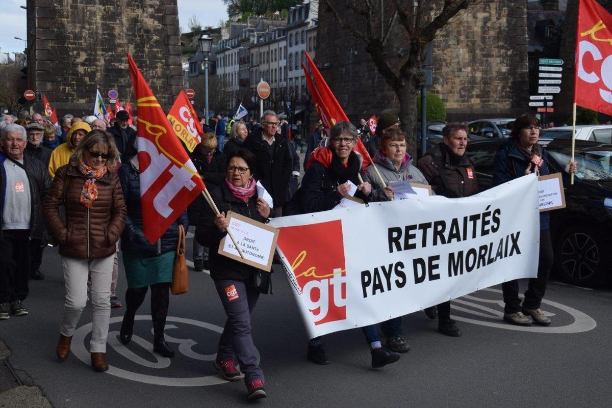 Manif des retraités - 11 avril 2019 Morlaix photo Pierre-Yvon Boisnard
