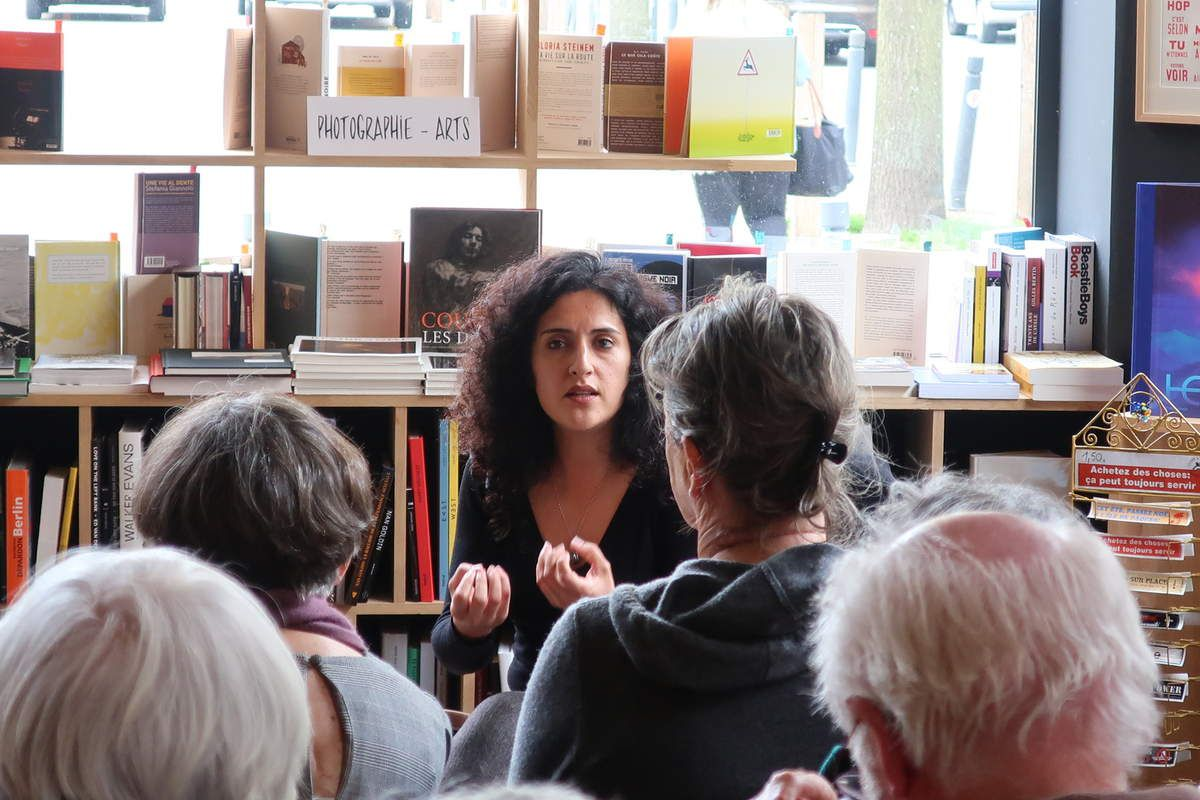 Maryam Madjidi à Brest à la Petite Librairie rue Danton, avril 2019