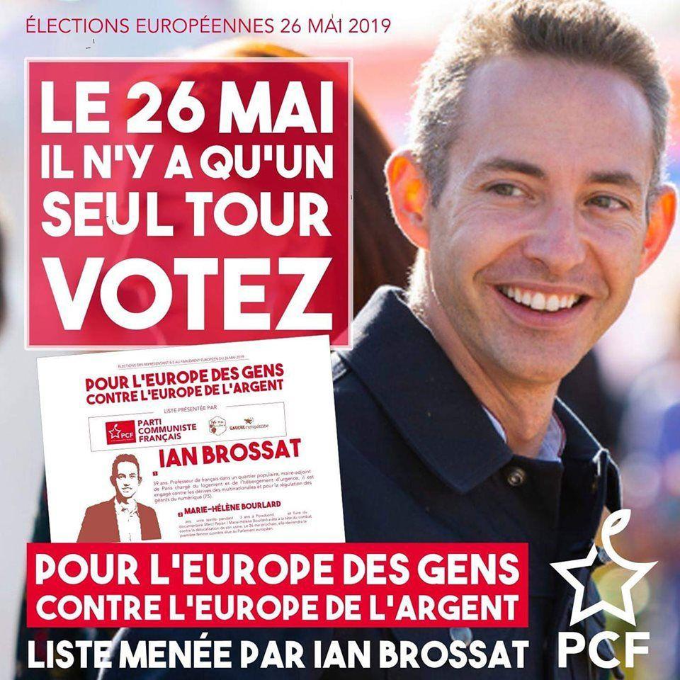 Européennes: tant de raisons de ne pas se laisser voler l'élection et de voter Ian Brossat- L'Humanité, le journal de Jaurès, 24 mai 2019